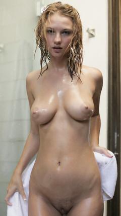 In the polka dot bikini girl