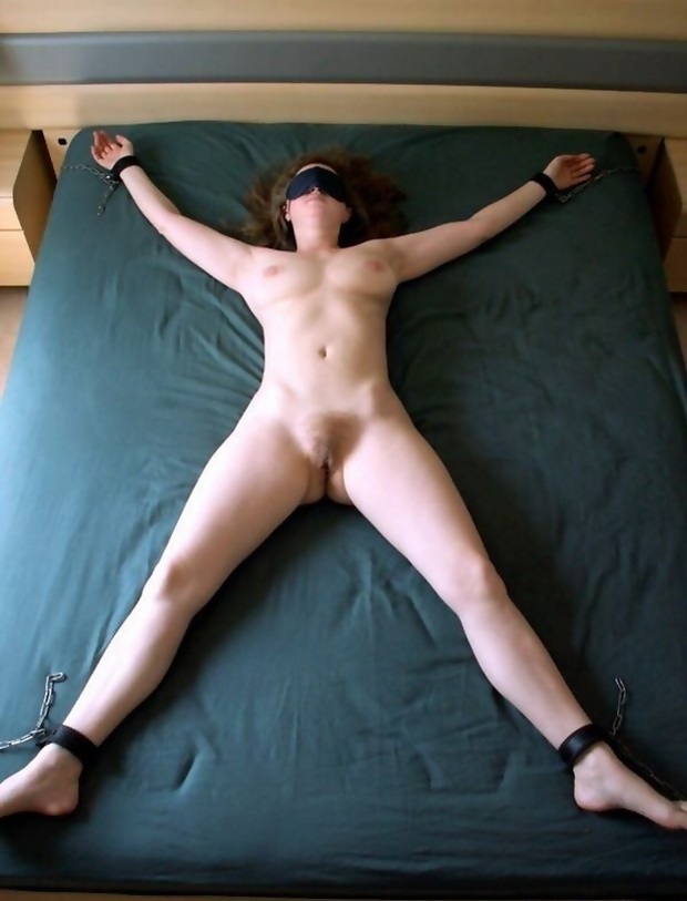 Spread eagle and fucked