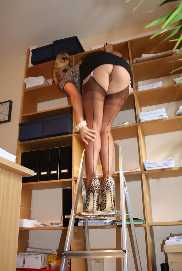 Upskirt Secretary