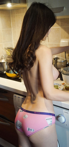 Sexy chicks in kitchen
