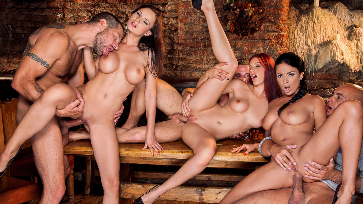 Girls playing together naked