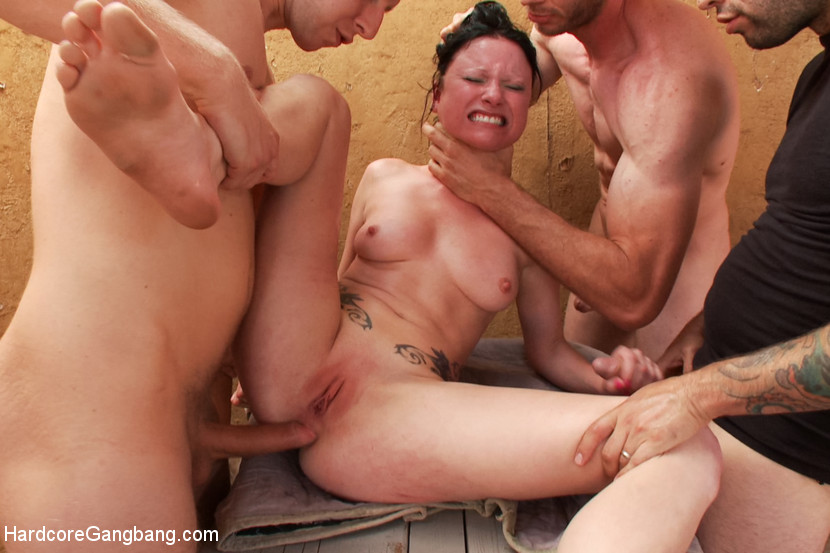 Forced gang bang porn